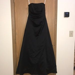Black floor length prom dress